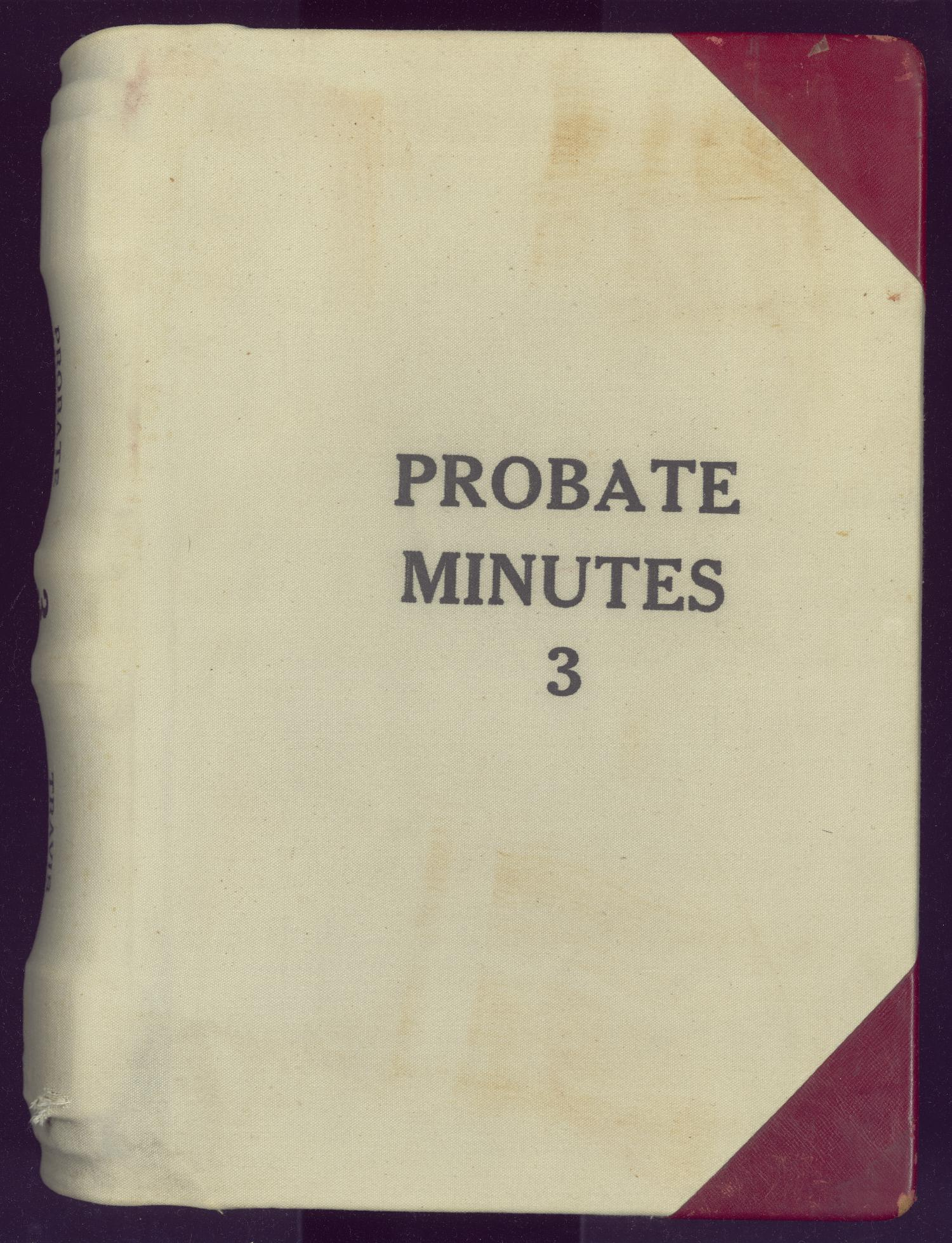 Travis County Probate Records County Clerk Probate Minutes 3  Page Front cover  The Portal to