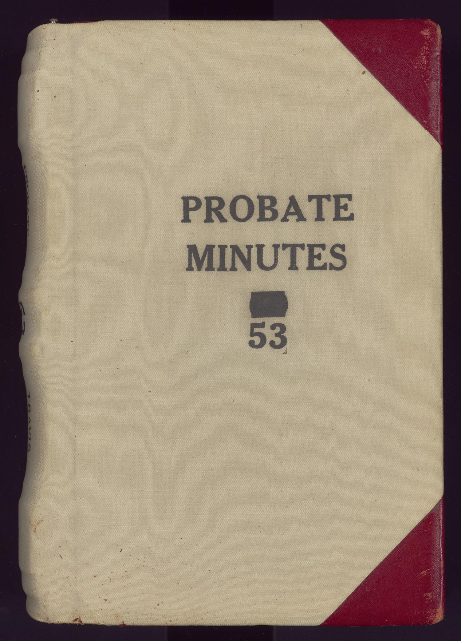 Travis County Probate Records County Clerk Probate Minutes 53  Page Front cover  The Portal