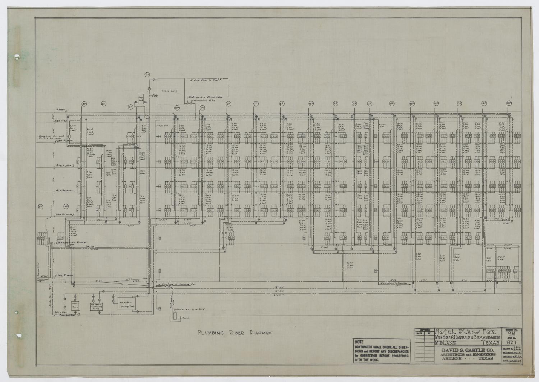 plumbing sanitary riser diagram 99 tahoe brake light switch wiring scharbauer hotel mechanical plans midland texas