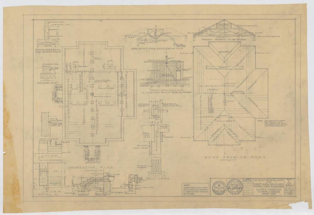 medium resolution of school auditorium blanket texas plans and diagrams the portal to texas history