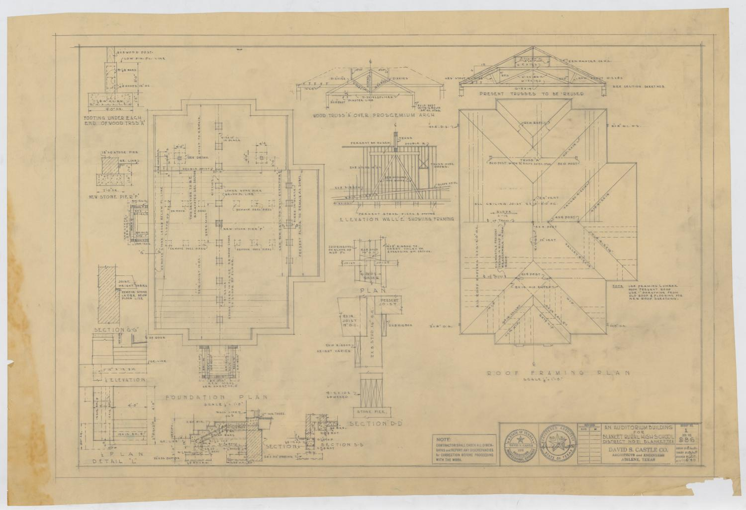 hight resolution of school auditorium blanket texas plans and diagrams the portal to texas history