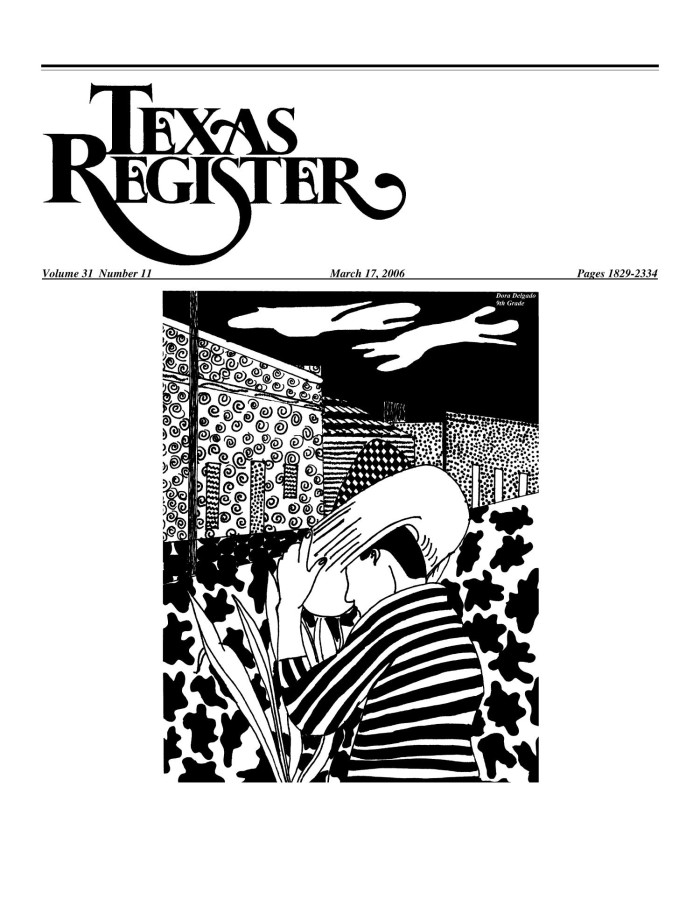 Texas Register, Volume 31, Number 11, Pages 1829-2334