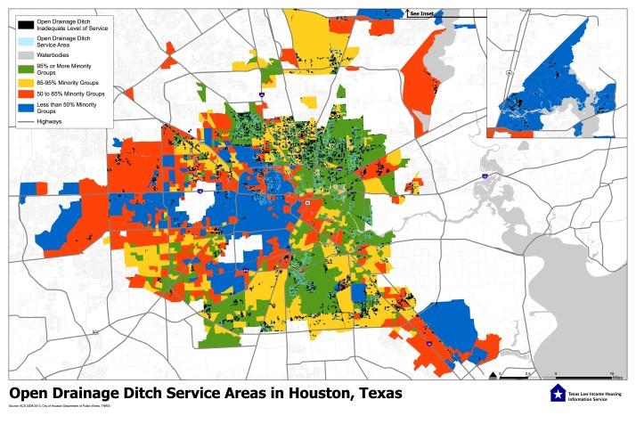 Open Drainage Ditches Houston