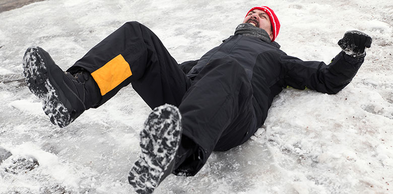 Man-Falling-on-Ice-Wondering-if-He-Will-Need-a-Slip-and-Fall-Lawyer