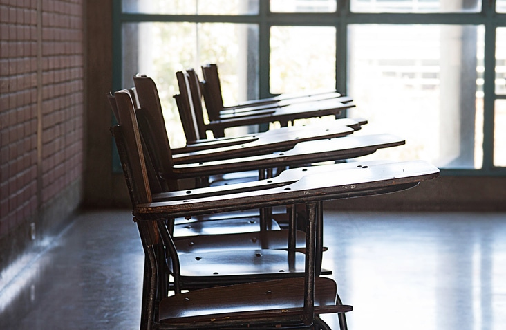 View of an empty classroom