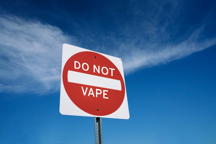 dot not vape sign