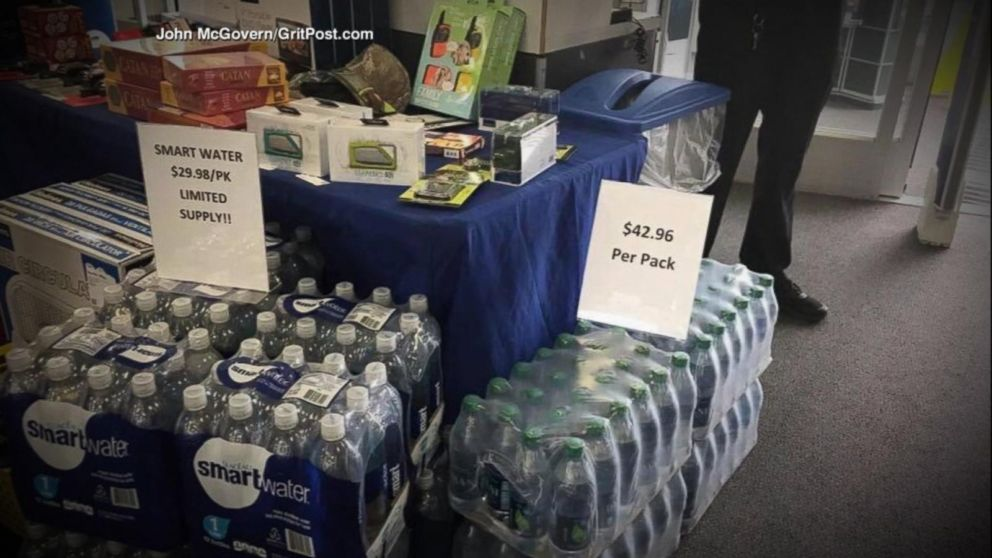 picture of water price gouging