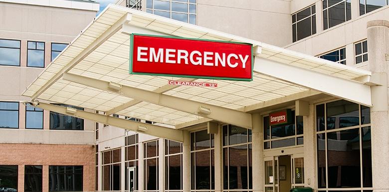 Emergency door overhang image