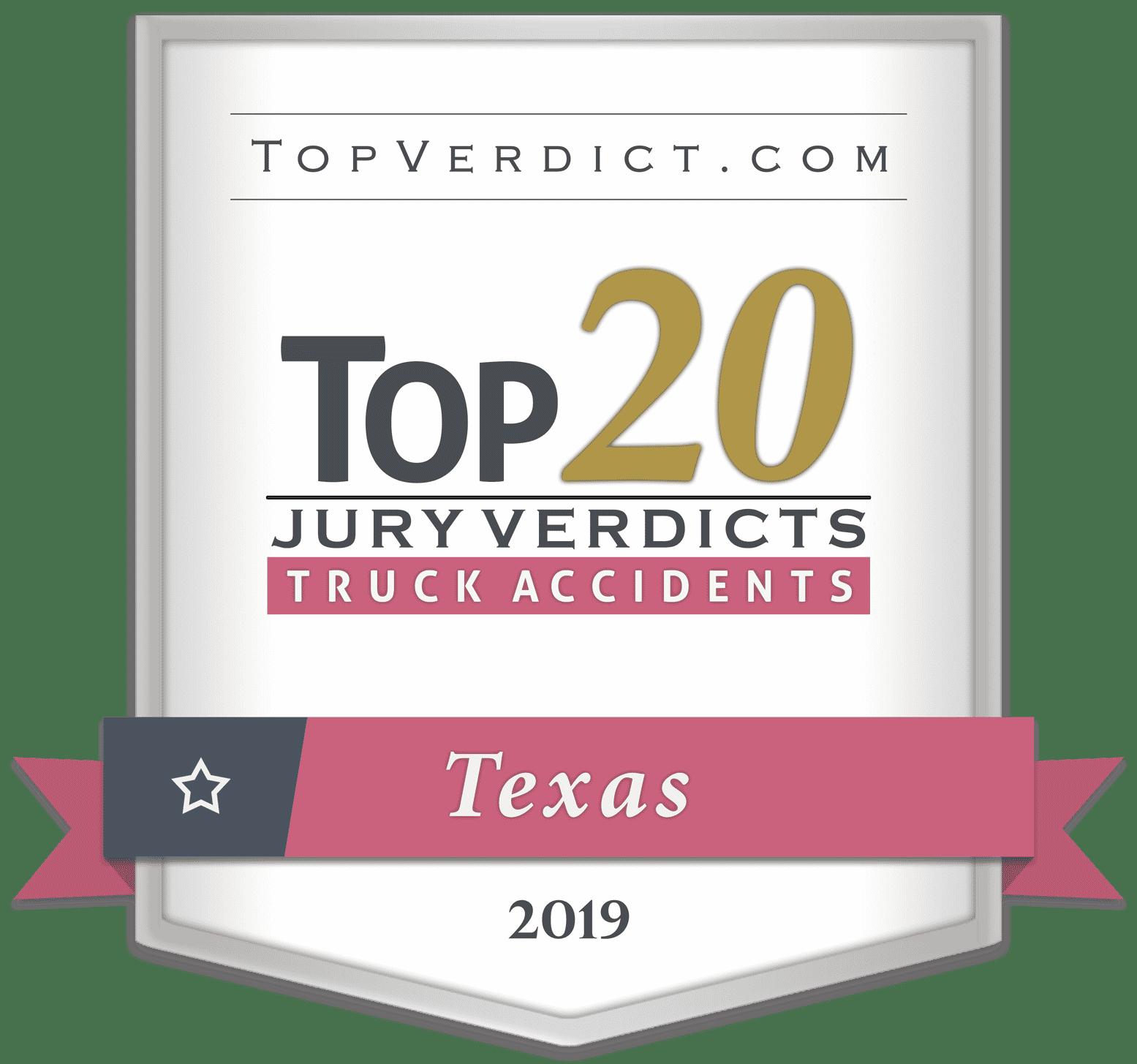 Top 20 Truck Accident Verdicts 2019