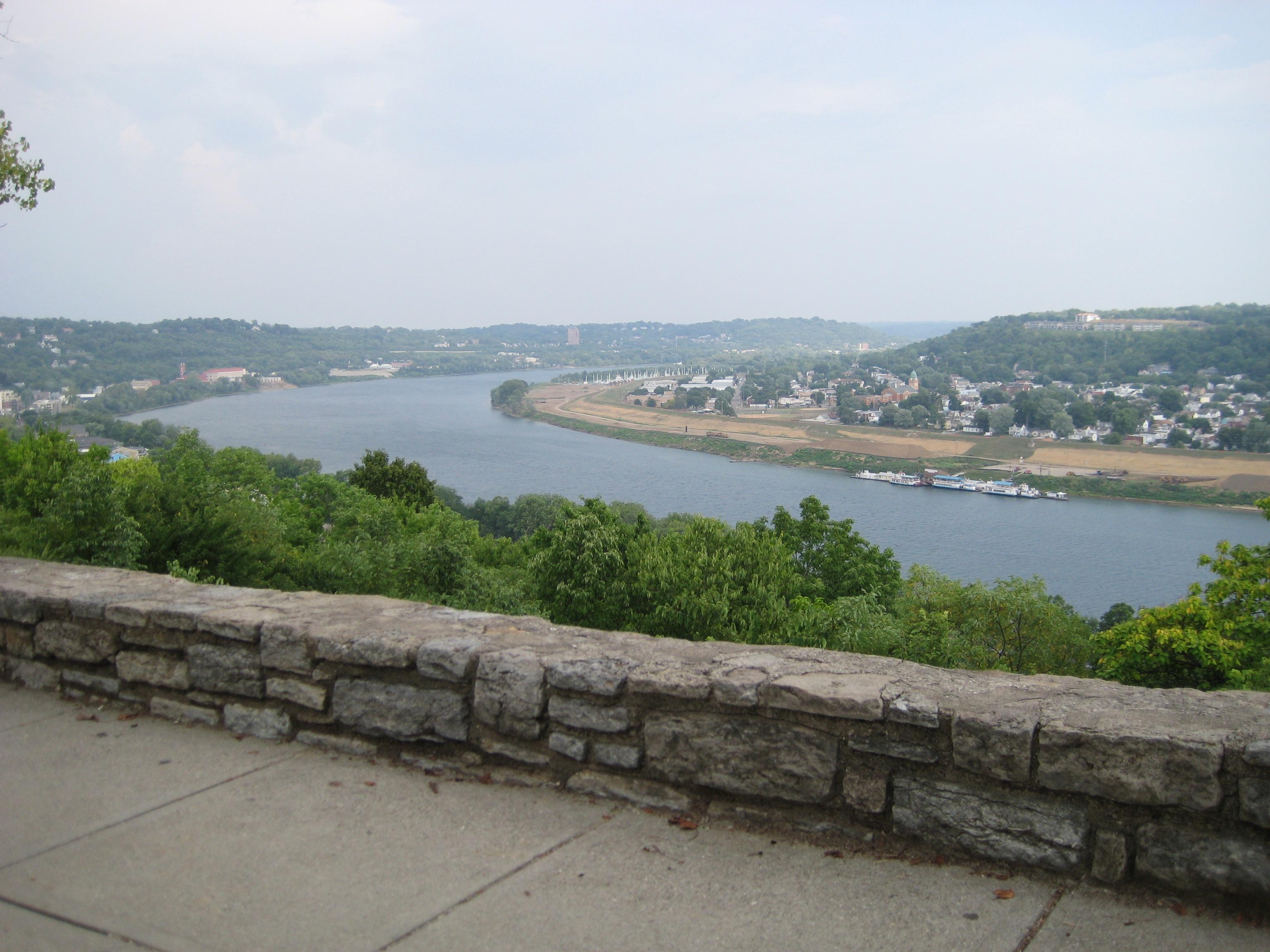 Photo Of Ohio River From Eden Park Overlook In Cincinnati