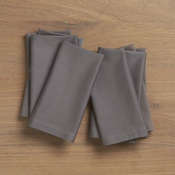 Fete Pewter Grey Cloth Napkin