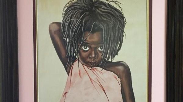 Pretty Eyes by Tom McKinney/Annie Earl's Custom Framed Art