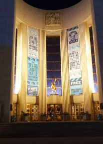 Front of Hall of State at night