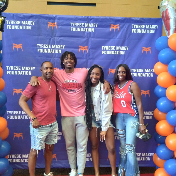 The Maxey Family at the Maxey Foundation Marvel Family Movie Night