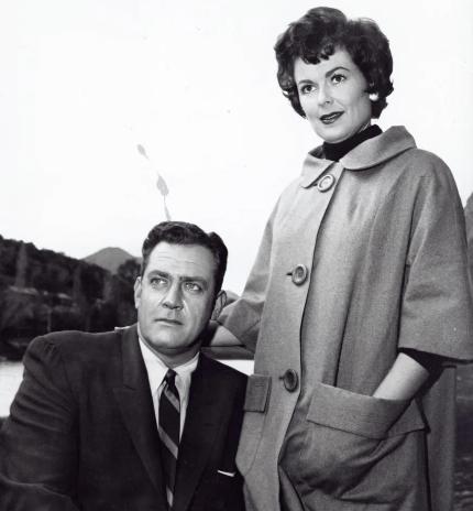 Ms. Barbara Hale with Raymond Burr
