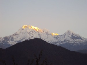 Annapurna South turned golden