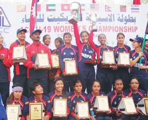 Nepal Women's Cricket Team at ACC U-19