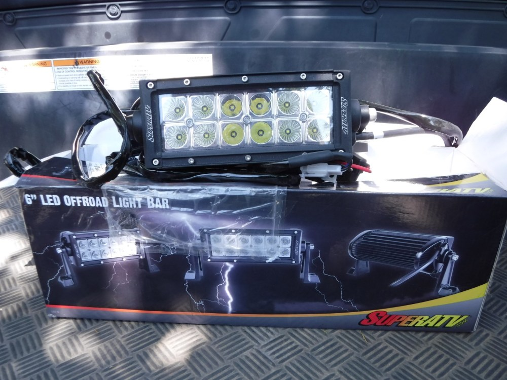 medium resolution of superatv 6 led light bar