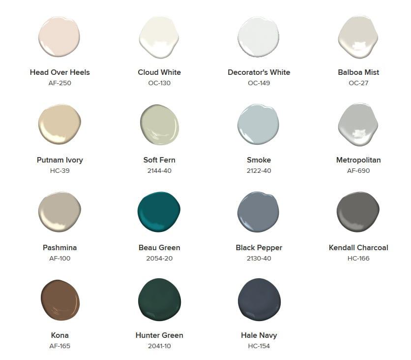 Benjamin Moore's 2019 color Trends