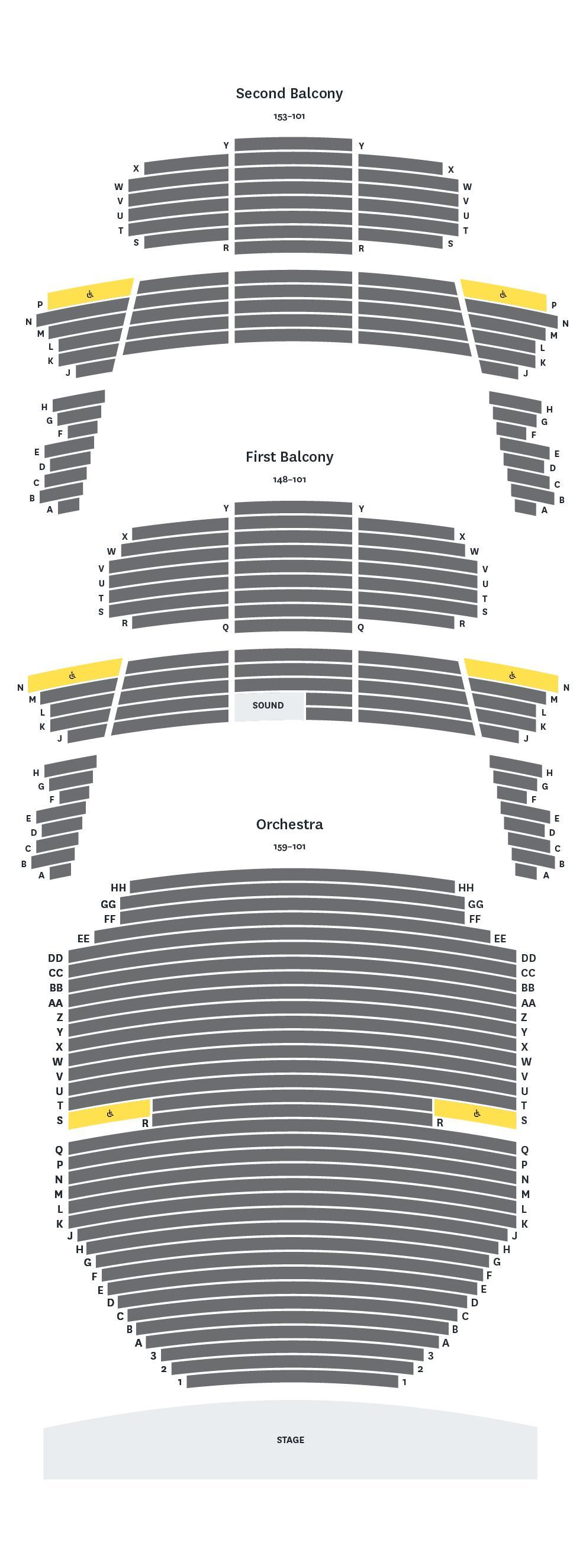 At T Center Seating Map : center, seating, Seating, Texas, Performing, University, Austin