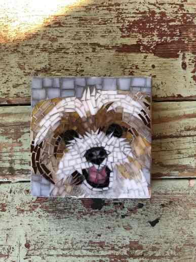 DeniseMosaics-Pet Portraits Dog Display Gallery 1