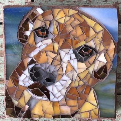 DeniseMosaics-Pet Portraits Dog Display Gallery 16