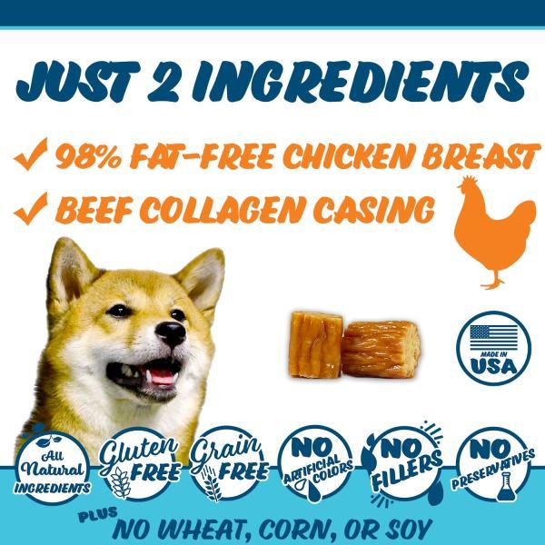 Texas Pet Company Chicken Jerky Bites Slides Ingredients 1500x1500