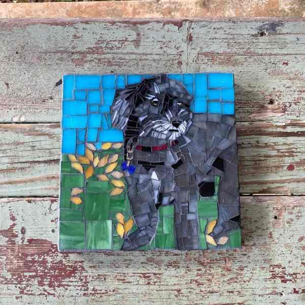 DeniseMosaics-Pet Portraits Dog Display Gallery 8x8 2