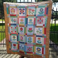 Bloom quilt finally finished