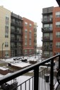 The view from our balcony on a snowy day!