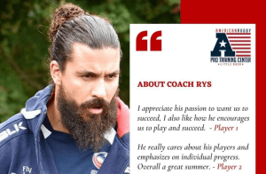 Rys Chadwick - ARPTC Director of Development & Performance will be hosting the sessions. Rys has a lengthy rugby resume including ARPTC, Executive Director at Northeast National Development Rugby Academy, USA Rugby and Play Rugby USA.