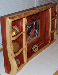 Cedar frame side view
