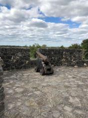 Presidio La Bahía Cannon near the Chapel
