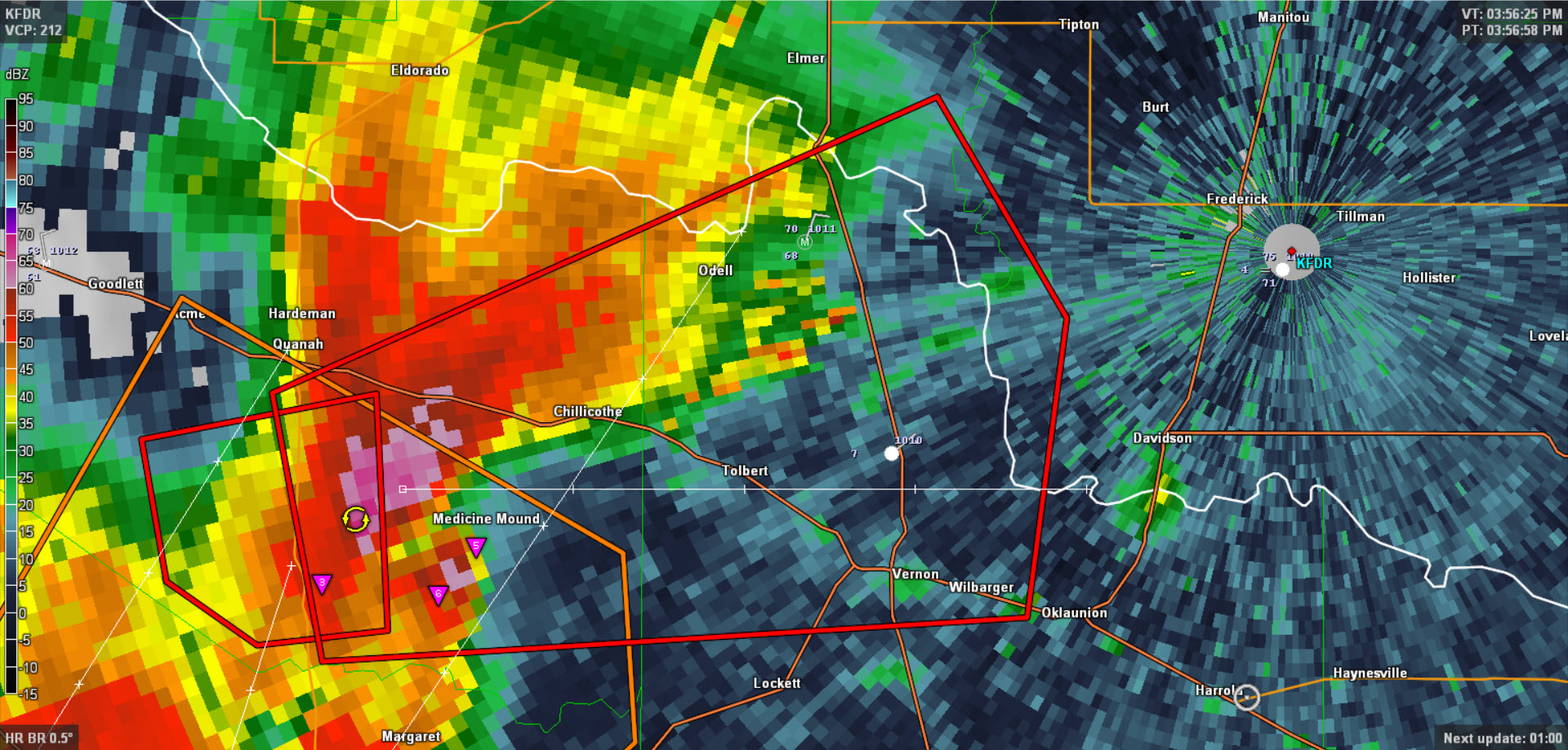 Tornado Warning For Vernon Texas Storm Chasers