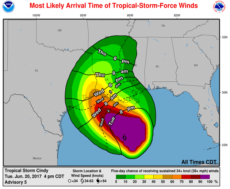 4PM Tuesday Update & Detailed Look at Cindy's Impacts to ...