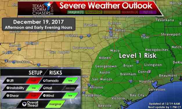 Widespread Beneficial Rains & Marginal Severe Storm Risk Today