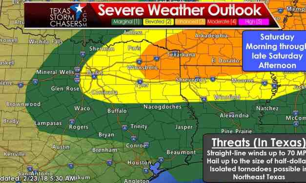 Severe Weather Threat Increasing Tomorrow; More Heavy Rain Too