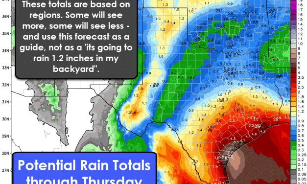 Rain expected to grace most of Texas at varying points by Wednesday