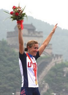 Womens Time Trial Gold Medalist Kristin Armstrong
