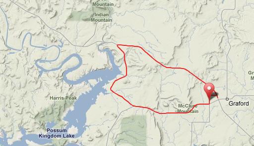 Graford TT Course Map