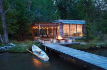 Modern Rustic Lake Cabin Design