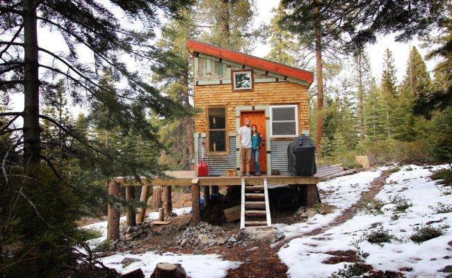 A Diy Self Sustainable Micro Cabin In California