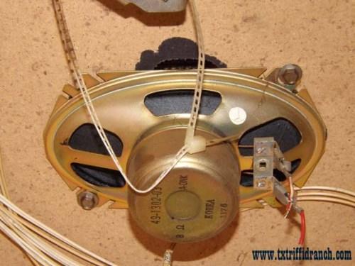Television: rear speaker