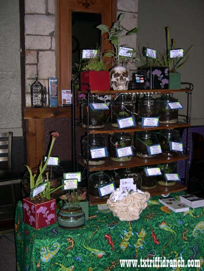 Triffid Ranch booth at the Shadow Society