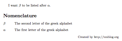 Acronyms in LaTeX Glossaries