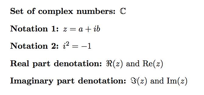Complex Number Symbols In Latex Texblog