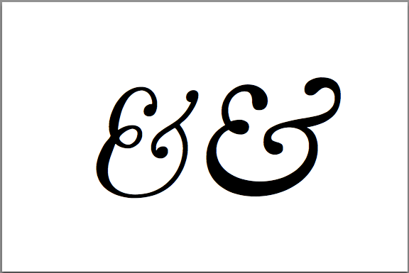 Typographic ligatures or the history of ampersand