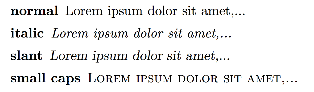 Changing font styles in LaTeX – texblog