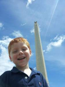 Eli at the San Jacinto Monument