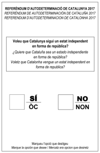2017 Catalonia referendum ballot